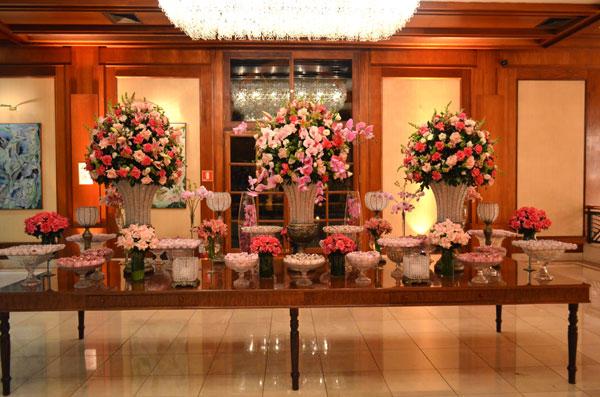 decoracao casamento tons de rosa: em tons de rosa para um casamento no ...